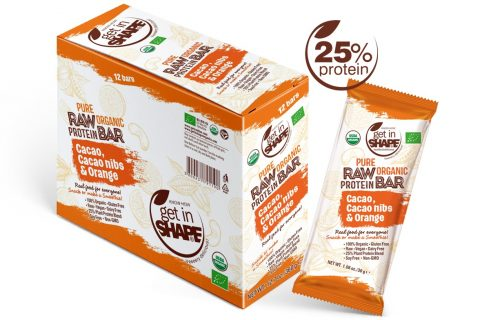 Pure Organic Raw Protein Bar Cаcаo, Cаcаo nibs & Orange 1.06oz./30g