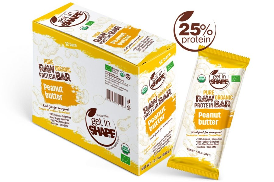 Pure Organic Raw Protein Bar Peanut Butter 1.06oz./30g